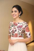 Ritu Varma smiling face Cream Anarkali dress at launch of OPPO New Selfie Camera F3 ~  Exclusive 093.JPG