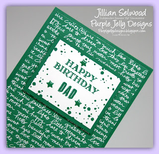 Guy Greetings stamp set, Happy birthday Dad, Emerald Envy