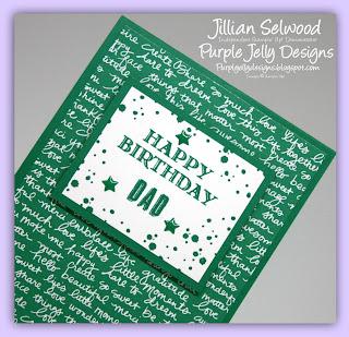 Guy Greetings stamp set, Happy birthday Dad, Emerald Envy