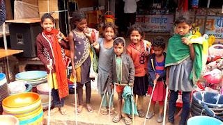 छेर-छेरता में बच्चों ने मांगा अन्न दान