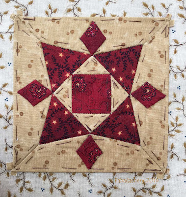 Dear Jane Quilt - Block D11 Snow Crystal