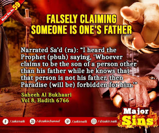 MAJOR SIN. 59.2. FALSELY CLAIMING SOMEONE IS ONE'S FATHER