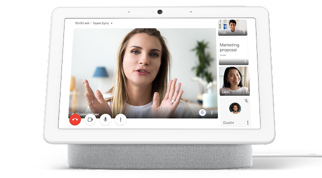 Improved Google Meet experience on the Nest Hub Max 1