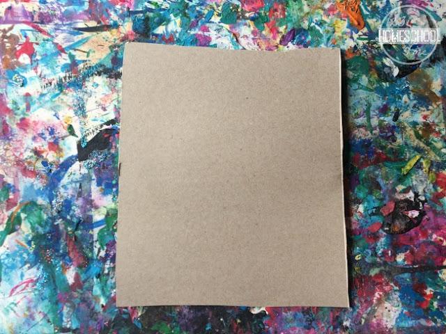 cut cardboard into 8x10