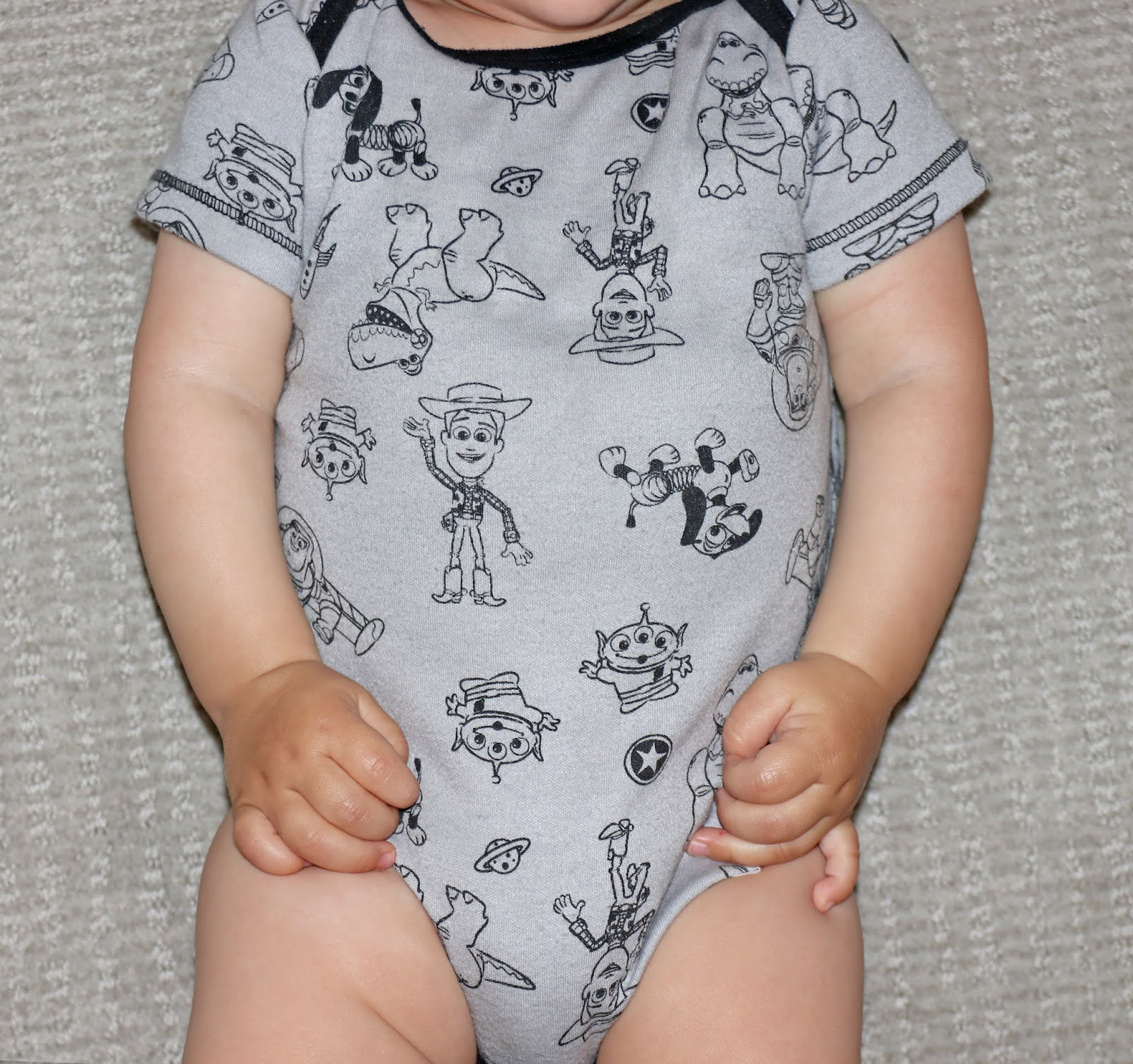 toy story Baby Bodysuits 5-Pack grey