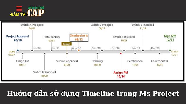 Hướng dẫn sử dụng Timeline trong Ms Project