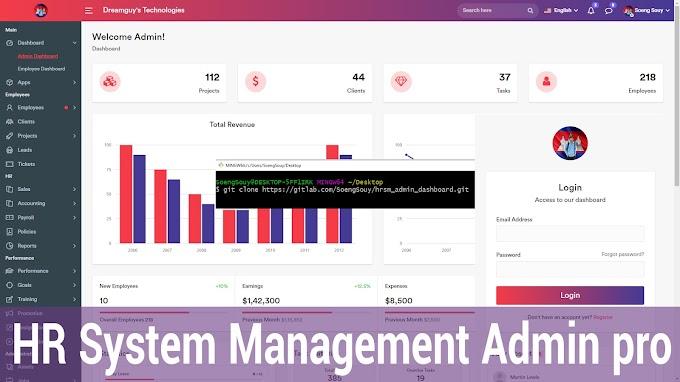 Admin dashboard in Laravel 8.X | HR MS Clone