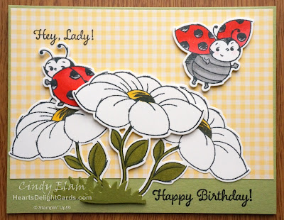 Heart's Delight Cards, Little Ladybug, 2020 Sale-A-Bration, Birthday Card, Stampin' Up!