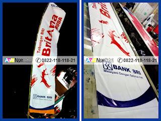 Jasa Cetak Sablon Umbul-umbul kain promosi murah di Senen, Jakarta Pusat