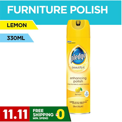 Pledge Furniture Lemon - 330 ml