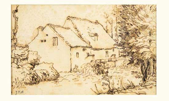 Жан Франсуа Милле - Водяная мельница. 1866