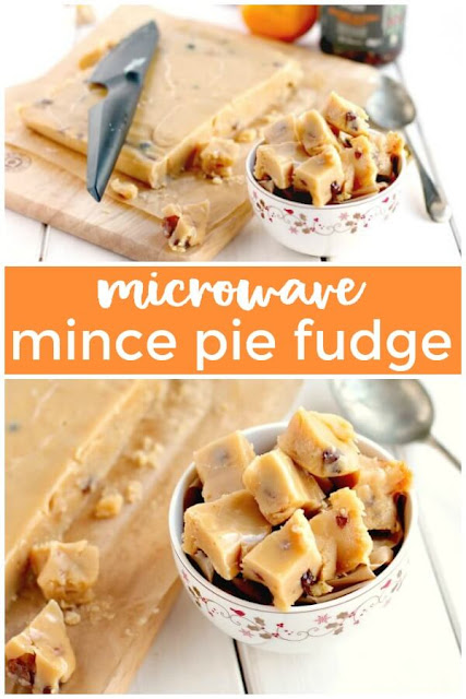 mince pie fudge made in the microwave #fudge