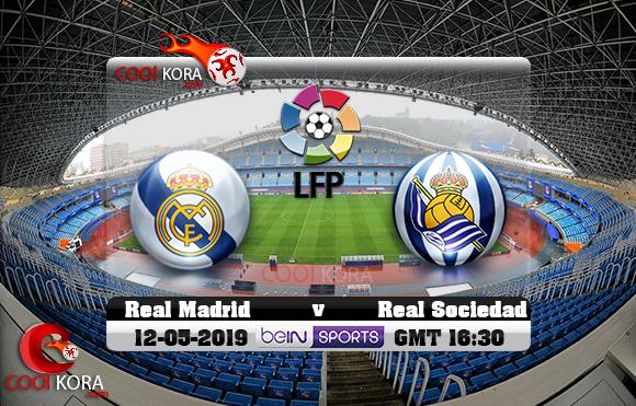 مشاهدة مباراة ريال سوسيداد وريال مدريد اليوم 12-5-2019 في الدوري الأسباني