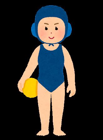 水球の選手のイラスト(女性)