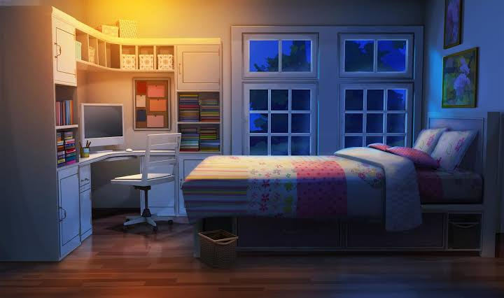 Bedroom At Night Background Home Design Ideas