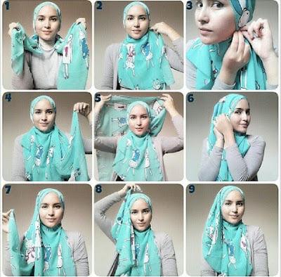 Tutorial Style Hijab Pashmina Gaya Menyamping