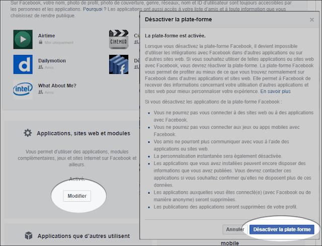تعطيل مشاركة بيانتك مع التطبيقات على فيسبوك