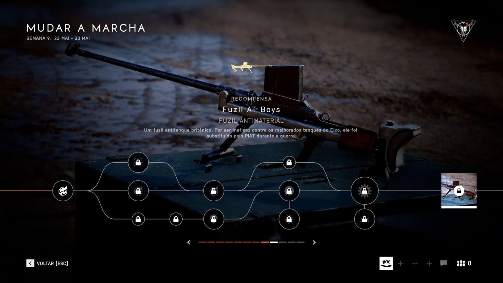 Battlefield V: Complete os desafios da semana para desbloquear um novo rifle antitanque