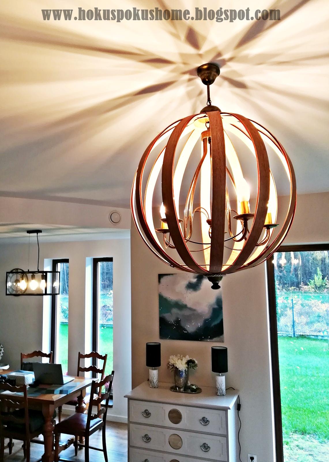 lampa wisząca drewno DIY
