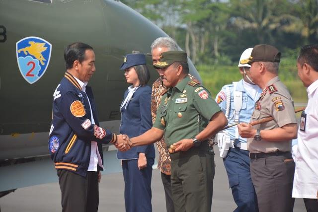Pangdam IV Diponegoro Sambut Kedatangan Presiden RI Joko Widodo
