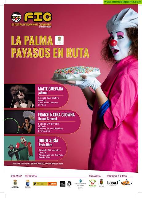 El Festival Internacional Clownbaret vuelve a La Palma con espectáculos gratuitos