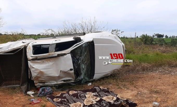 Urgente – Capotamento deixa uma vítima fatal e outras três feridas na zona rural de Alta Floresta