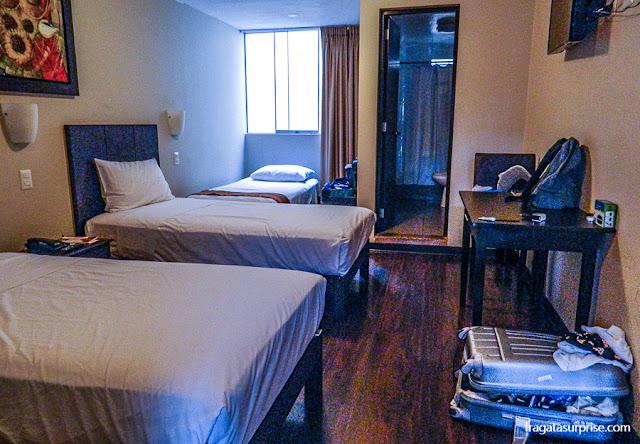 Quarto triplo do Hotel Casa Suyay, Miraflores, Lima