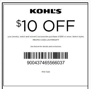 kohls promotion codes august 2018
