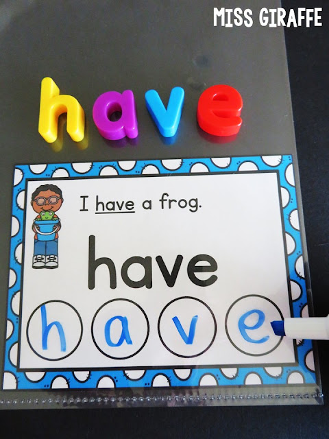 Writing sight words practice is so much fun with these sight word sentence cards... check out all the fun ways I use these!