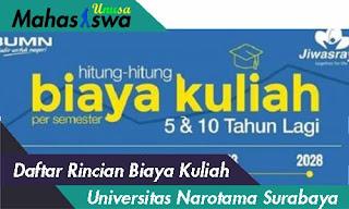 biaya kuliah di universitas narotama surabaya 2019