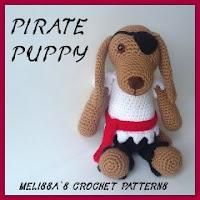 perrito pirata amigurumi