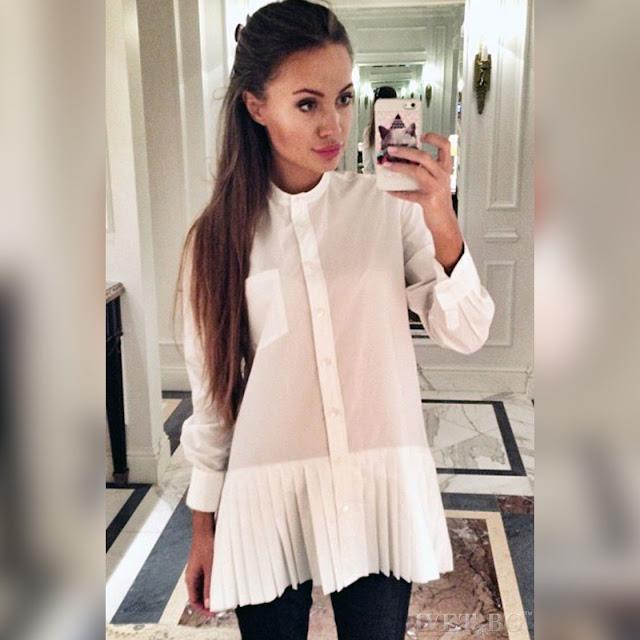 Γυναικείο άσπρο πουκάμισο FORAMA