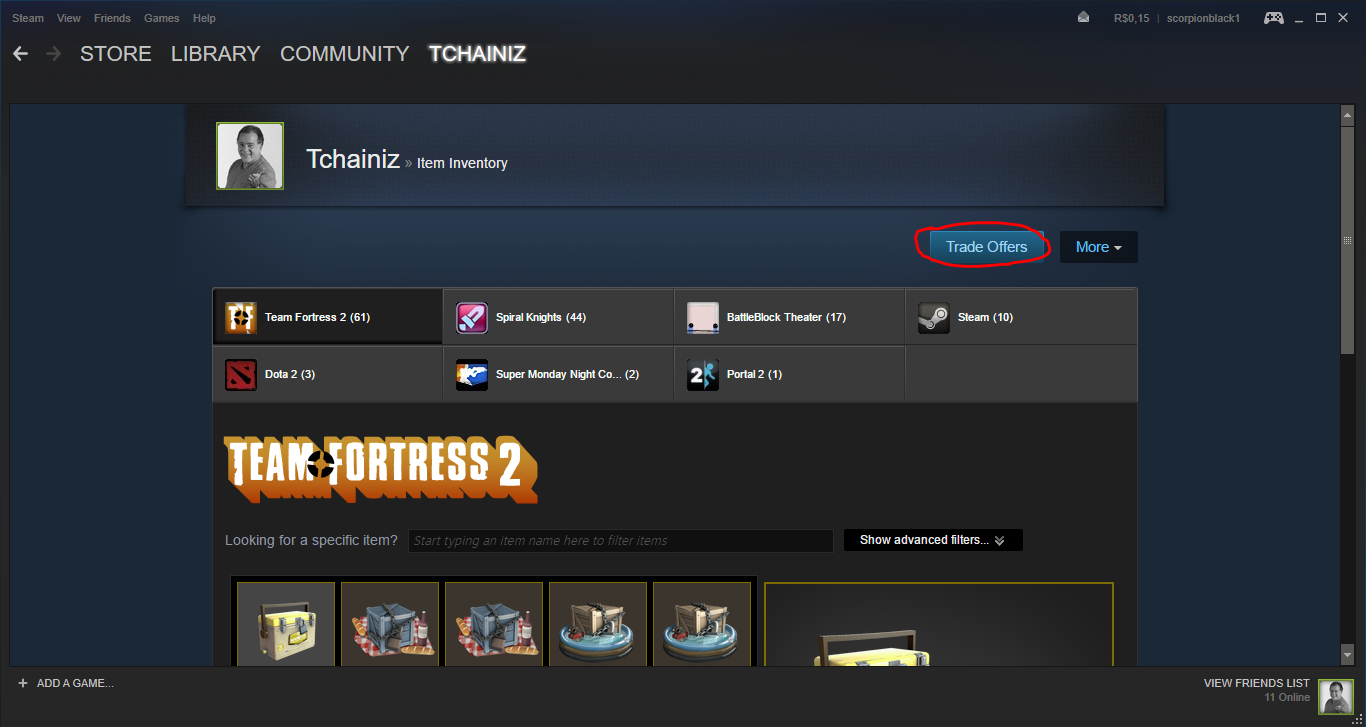 how to send trade offer steam