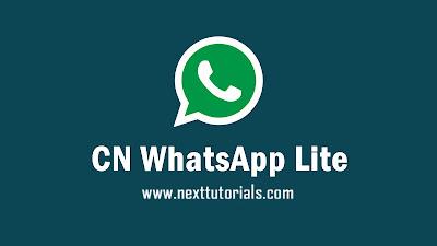 download CN WhatsApp Lite v3.10,cnwa lite v3.10,cn whatsapp lite anti ban terbaru 2020,aplikasi wa mod terbaik 2020,tema whatsapp mod keren 2020