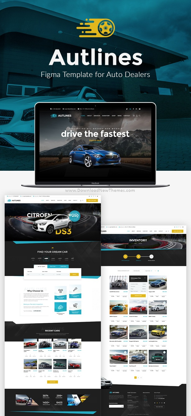 Autodealer and Tuning Auto Figma Template