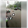 Diguyur Hujan Deras Senayan Digenangi Banjir Setinggi 1 Meter