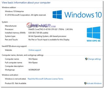 Windows 10 PE SE x64 Live Disc By Hawk007 Terbaru