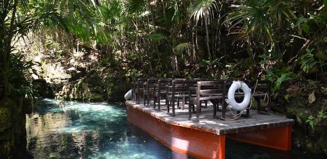 Paradise River no Parque Xcaret em Cancún