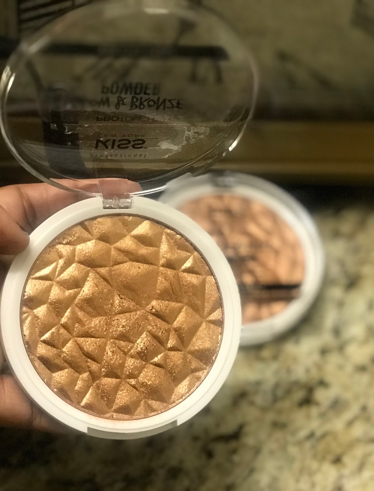 Kiss Glow Bronzer found at the beauty supply store