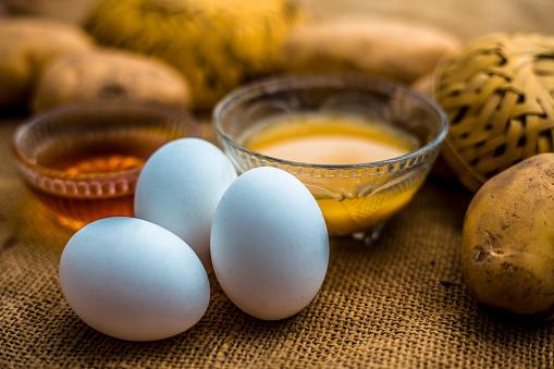 skin whitening egg mask