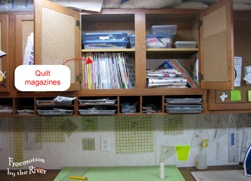 Quilt magazines now in cupboards