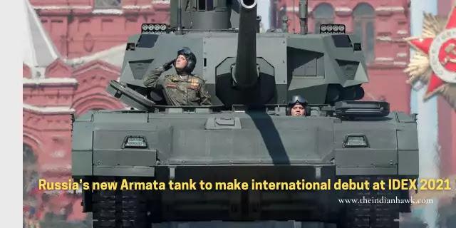 Russia Armata Tank T-14 Debut in IDEX UAE