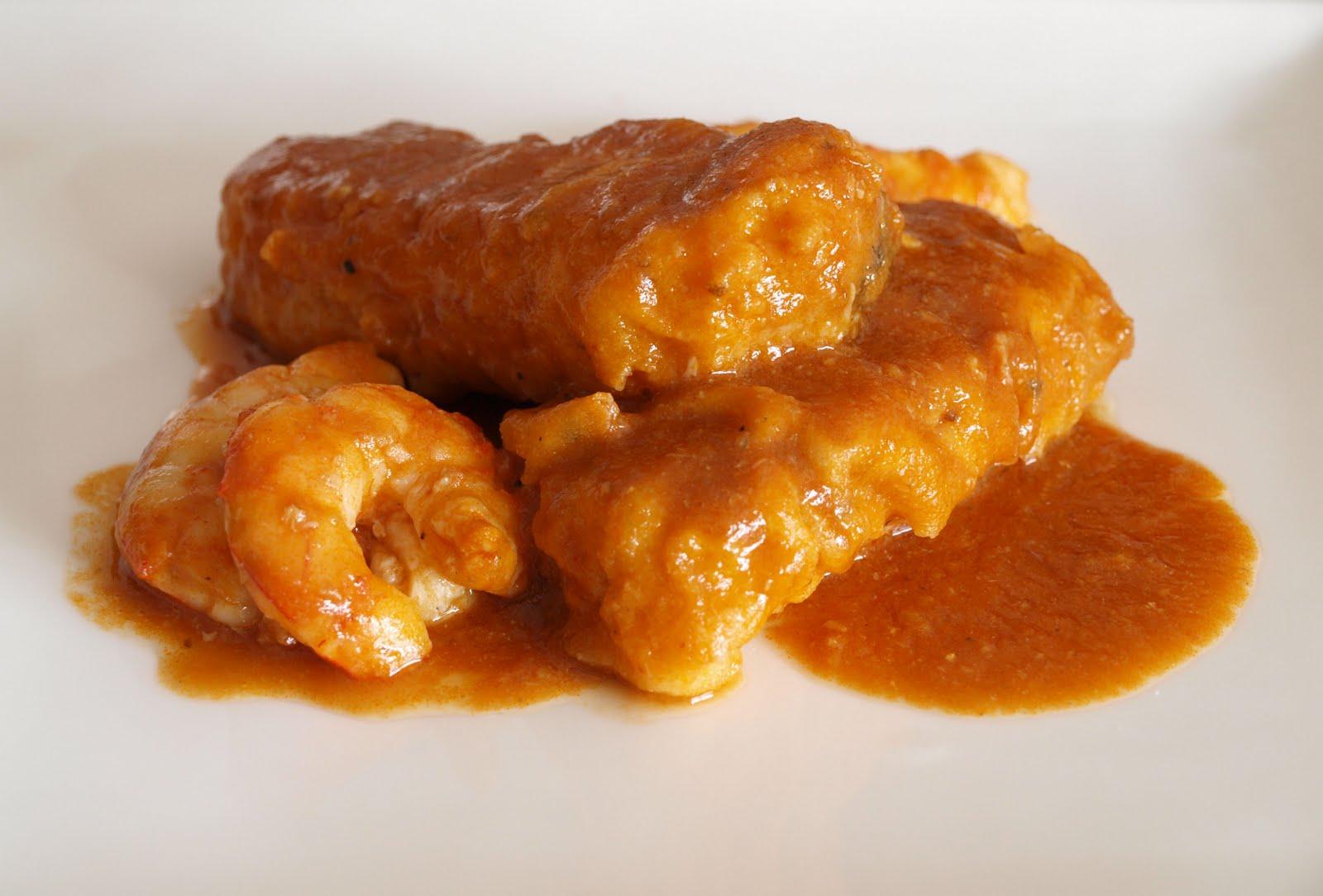 Resultado de imagen para pescado en salsa de langostinos images
