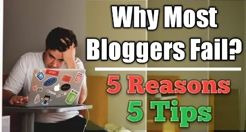 5 Reasons Why Most Bloggers Fail | 5 Blogging Tips | Handy Title