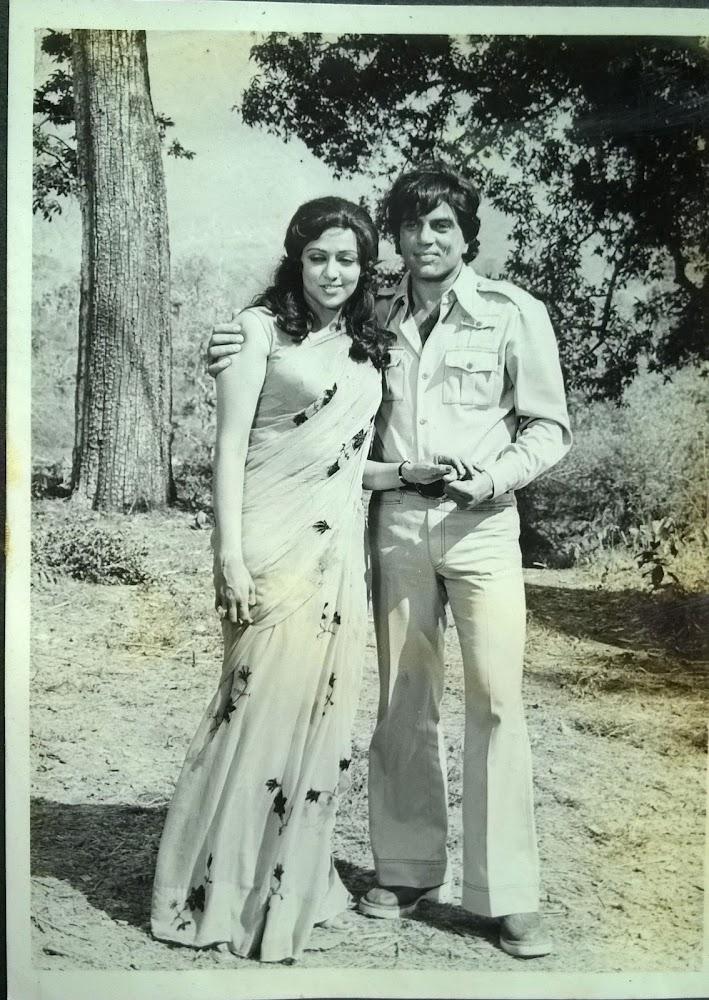 Dharmendra and Hema Malini in Maa 1976