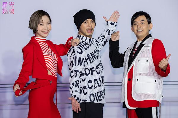 臺北跨年晚會主持人黃子佼、Lulu黃路梓茵與演出嘉賓黃明志