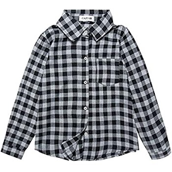 80% OFF   Plaid Shirt Button Down Cotton Long Sleeve Shirt with Pocket