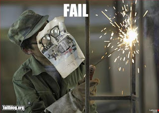 welding with no protection fail