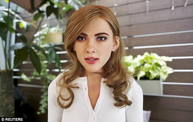 Robot mirip Scarlett Johanssen