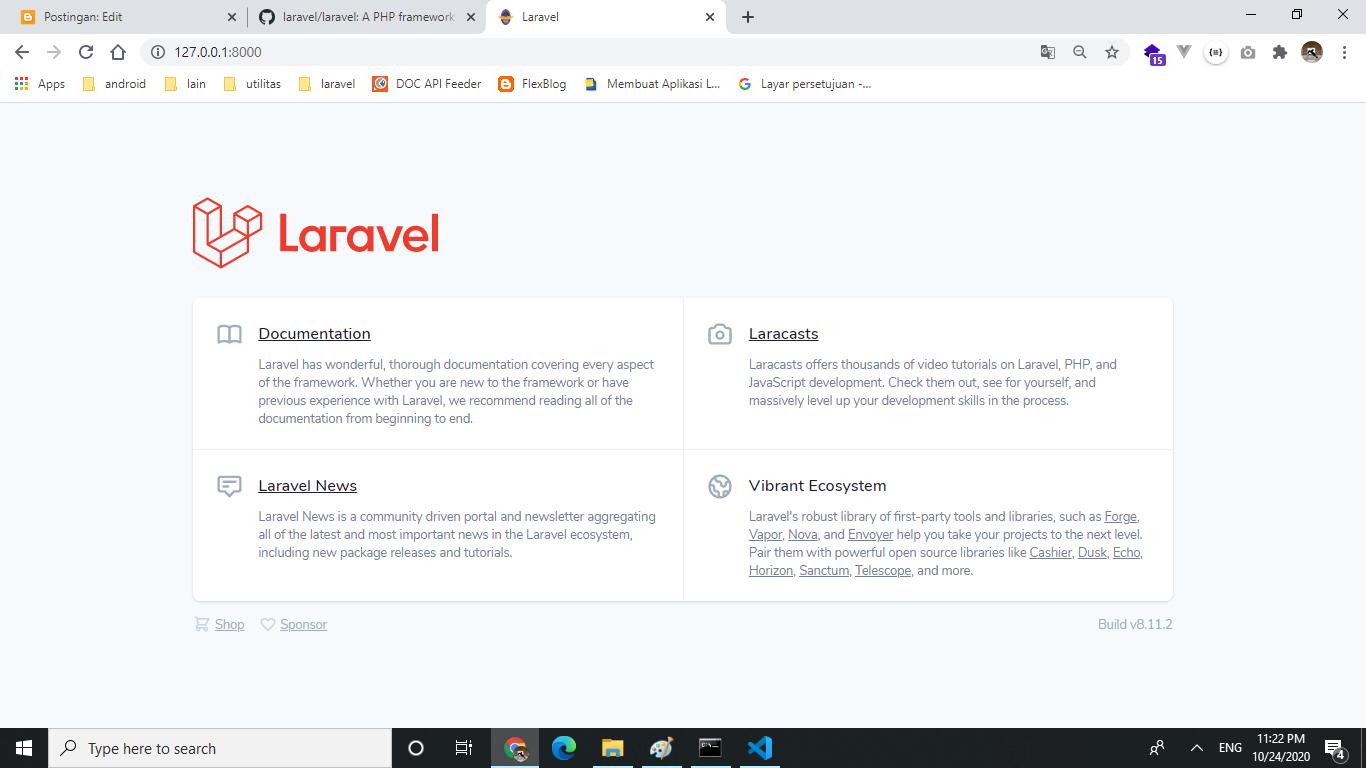 Laravel versi 8